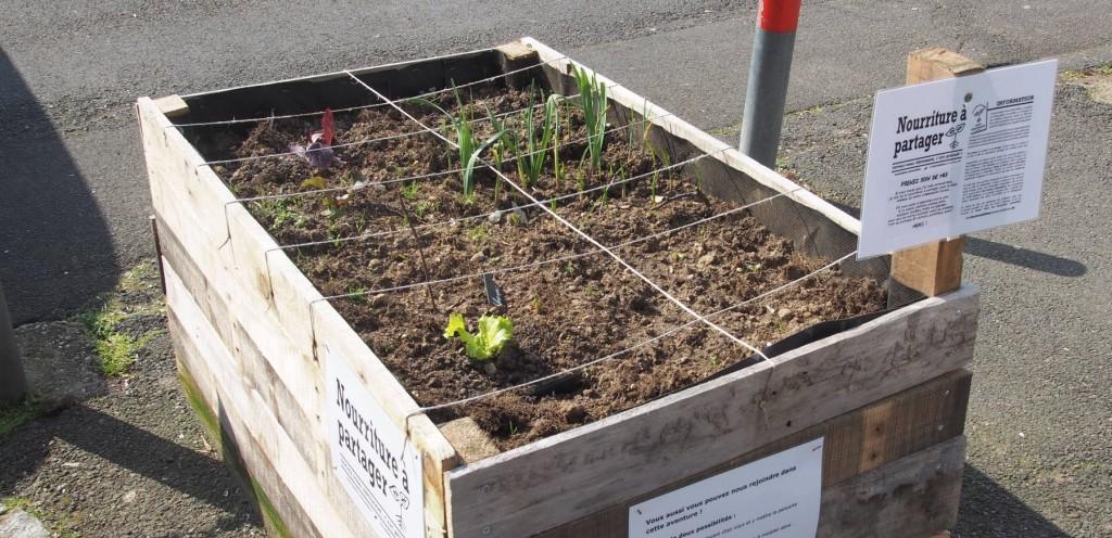 Jardinière devant l'école Berthe Hubert